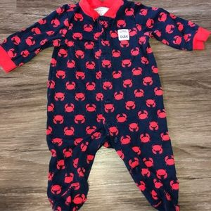 Just one you Carter's crab print pajamas navy/red